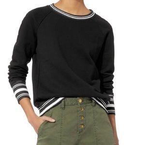 NSF x Revolve Black Saguro Striped Sweatshirt L